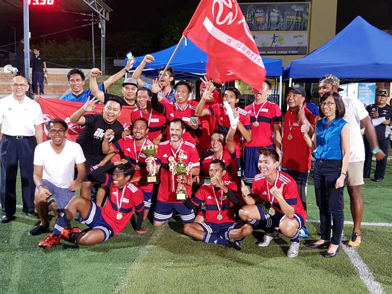 RWS Football team wins SHA Inter-hotel Soccer League 2016