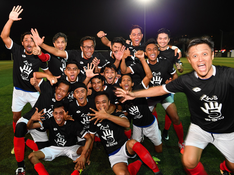RWS Football team wins SHA Inter-Hotel Soccer Tournament 2018 -1